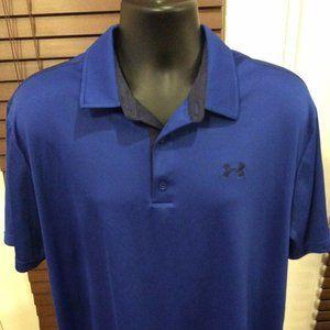 UNDER ARMOUR Heat Gear Loose Polo Shirt 2XL Blue